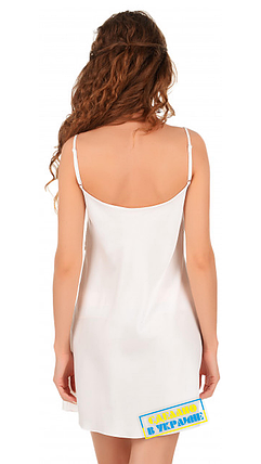Шелковая ночная рубашка с кружевом Martelle Lingerie (молочная), фото 2