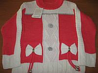 Детский свитер для девочки Бантики  4-5 .  8-9  лет Турция