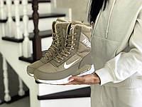 Женские зимние кроссовки Nike 8559 оливковые, фото 1