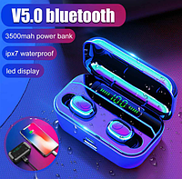 Беспроводные вакуумные наушники Air Pro G6 + Power Bank