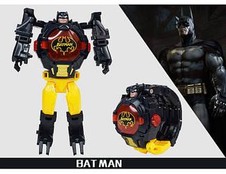 """Детские наручные часы игрушка трансформер """"Бэтмен (Batman)"""" в подарочной упаковке, фото 2"""