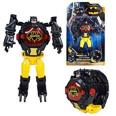 """Детские наручные часы игрушка трансформер """"Бэтмен (Batman)"""" в подарочной упаковке"""