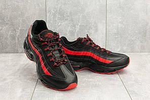 Кроссовки мужские Ditof A 95 -16 черные-красные (искусственная кожа, весна/осень)