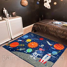 Килим для дитячої кімнати на гумовій основі Місія Аполлон 100 х 130 см