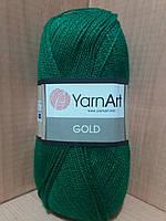 Акриловая пряжа с люрексом YarnArt Gold 9049 (ярко-зелёный)