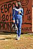 Теплый женский спортивный костюм на флисе из плетеного трикотажа 57msp796