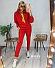 Телый женский спортивный костюм из трехнитки с худи 63msp799
