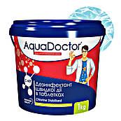 Хлор для бассейна AquaDoctor C-60T в таблетках 1 кг. Шоковый быстрорастворимый
