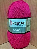 Акриловая пряжа с люрексом YarnArt Gold 9031 (ярко-малиновый)