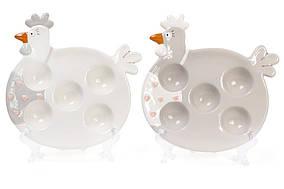 Подставка для 5 яиц керамическая Курочка Bona Di 834-715