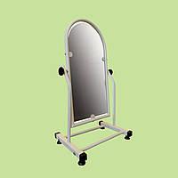 Торговое зеркало обувное белое 30 см