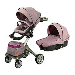 Универсальная коляска DSLAND Xplory V6 Light purple Сиреневый V62222017P, КОД: 125590