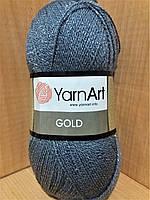 Акриловая пряжа с люрексом YarnArt Gold 9044 (серый)
