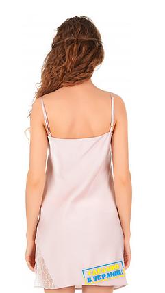 Шелковая ночная рубашка на бретелях Martelle Lingerie (розовая пудра), фото 2