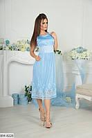 Красивое шелковое нарядное платье миди арт 1046