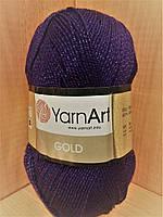Акриловая пряжа с люрексом YarnArt Gold 9006 (фиолетовый)