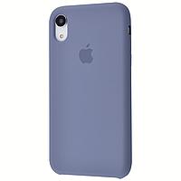 Чехол на айфон Xr Silicon case for iPhone Xr lavender gray силиконовый чехол на айфон