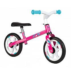"""Беговел металлический """"Молния"""" (2-колесный, до 30 кг), First Bike Smoby, розовый 2+ (770205)"""