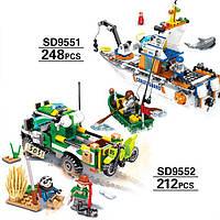 Конструктор транспорт для мальчика 2 вида SD9551-9552