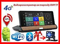 "Видеорегистратор на торпеду DVR T7 2 камеры / GPS / 8""IPS Экран / 4 Ядра / 8Gb / 1Gb Ram / Android / Bluetooth"