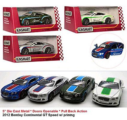 "Модель легкова KT5369FW 5"" 2012 Bentley Continental GT Speed метал.инерц.откр.дв.4цв.кор./96/ *"