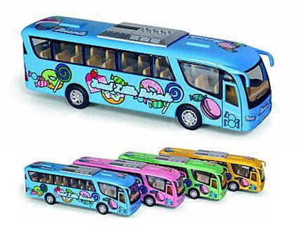 """Модель автобус 7""""  Dessert Bus метал.инерц.откр.дв.кор."""