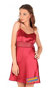 Атласная ночная сорочка Martelle Lingerie вишневая