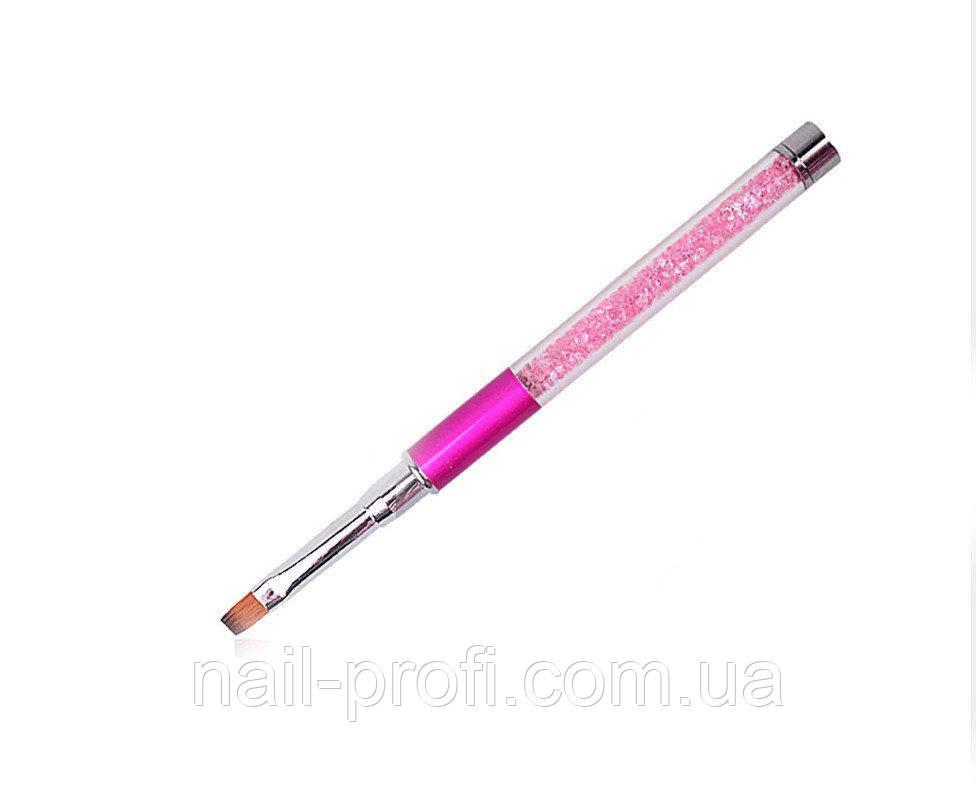 Пензель для гелю(ручка зі стразами)№6