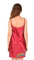 Атласная ночная сорочка Martelle Lingerie вишневая, фото 2