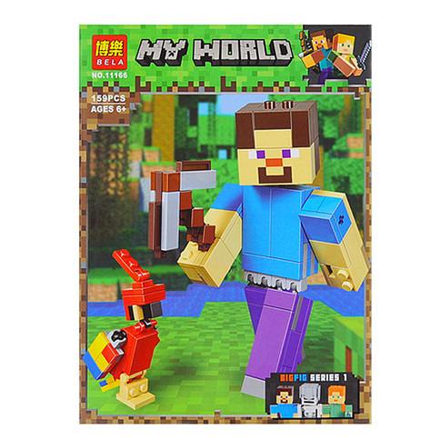 "Конструктор ""Стів з папугою"" 159дет. арт.11166, (аналог Lego Майнкрафт, Minecraft 21148) BELA"