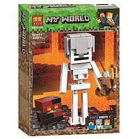 Конструктор BELA MY WORLD Скелет з кубом магми, 142 деталі