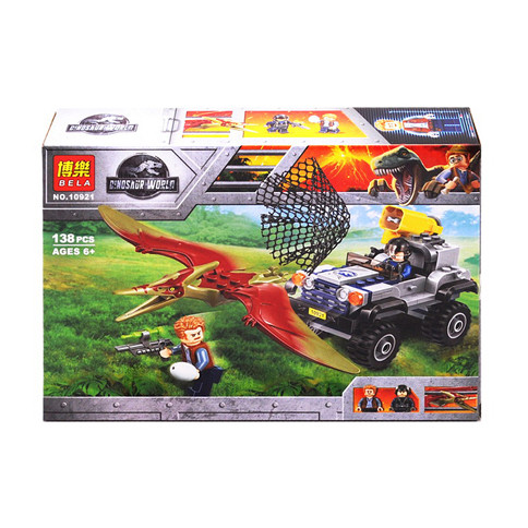 """Конструктор Bela 10921 """"Гонитва за птеранодоном"""" (аналог Lego Jurassic World 75926 ), 138 дет"""