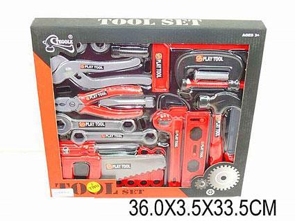 Набір інструментів T218G (925182) викрутка, молоток, пила, плоскогубці, в кор. 36*3,5*33,5см