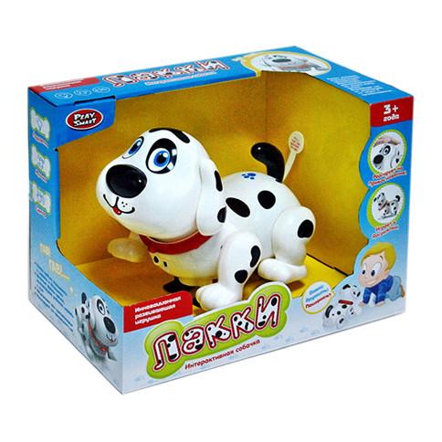 Собака интерактивная PLAY SMART Лакки музыкальные, световые, сенсорные эффекты, коробка, RUS