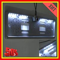 Номерная рамка с подсветкой 16LED + Камера заднего вида Подсветка