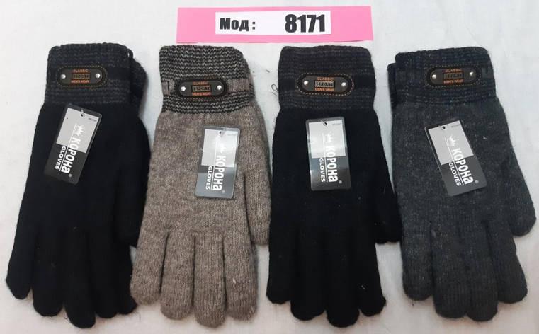 Мужские перчатки зима верблюжья шерсть внутри мохра, фото 2