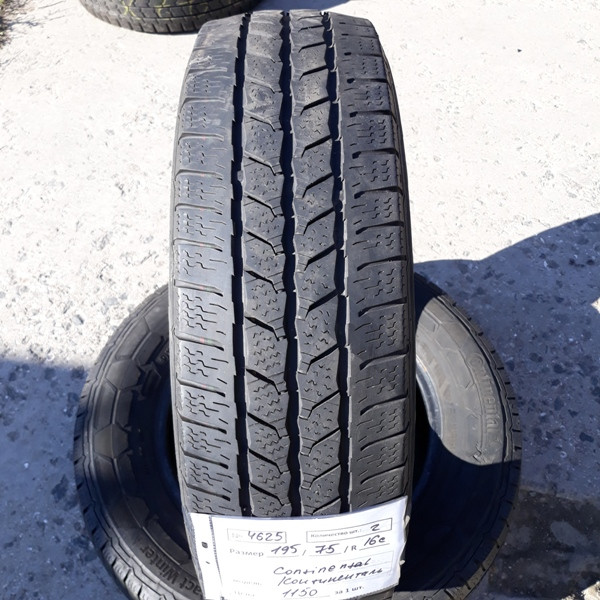 Бусовские шины б.у. / резина бу 195.75.r16с Continental Vancontact Winter Континенталь