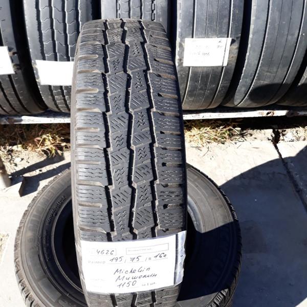 Шины б.у. 195.75.r16с Michelin Agilis Alpin Мишлен. Резина бу для микроавтобусов. Автошина усиленная. Цешка