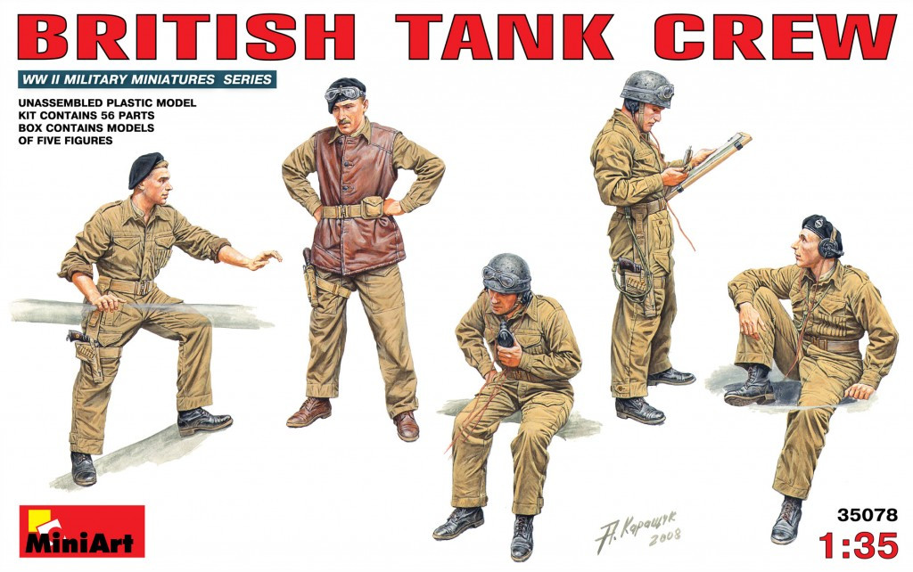Набор фигур в масштабе 1/35. Британский танковый экипаж. MINIART 35078