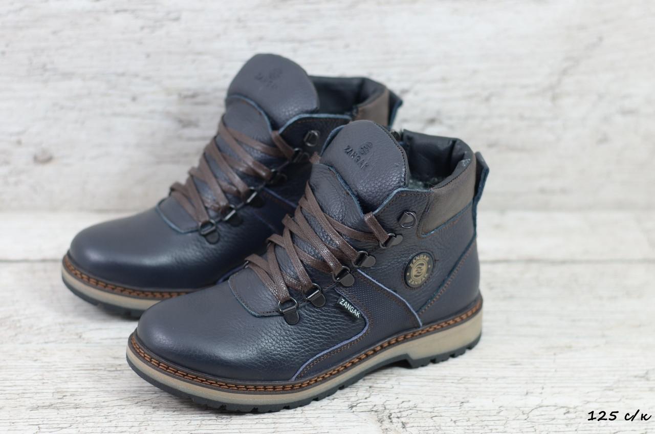 Зимние кожаные ботинки Zangak (Реплика) (Код: 125 с/к  ) ►Размеры [36,37,38,39]