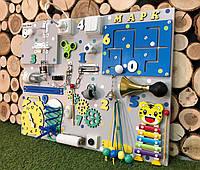 Развивающая доска Бизиборды Бизиборд 50*65 в максимальном наполениия цветной бізіборд busyboard