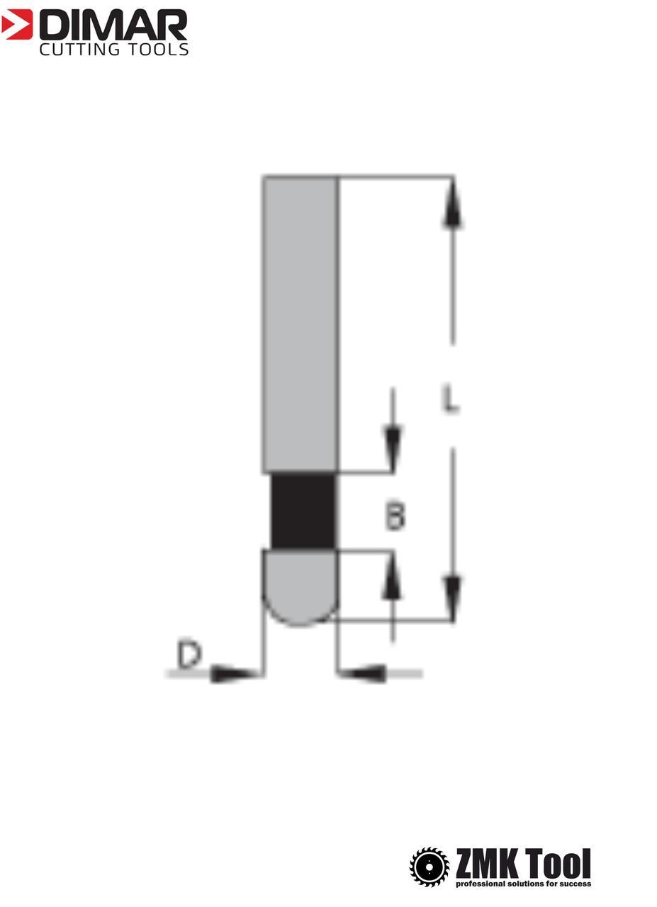 Фреза DIMAR для снятия свесов кромки D=6 B=9.5 L=38 d=6