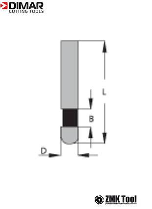 Фреза DIMAR для снятия свесов кромки D=6 B=9.5 L=38 d=6, фото 2