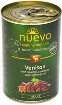 Консерва для собак Nuevo Adult з макаронами і олениною 800 г