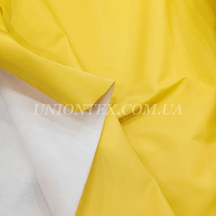 Плащевка на основе интерлоке президент желтый, фото 2