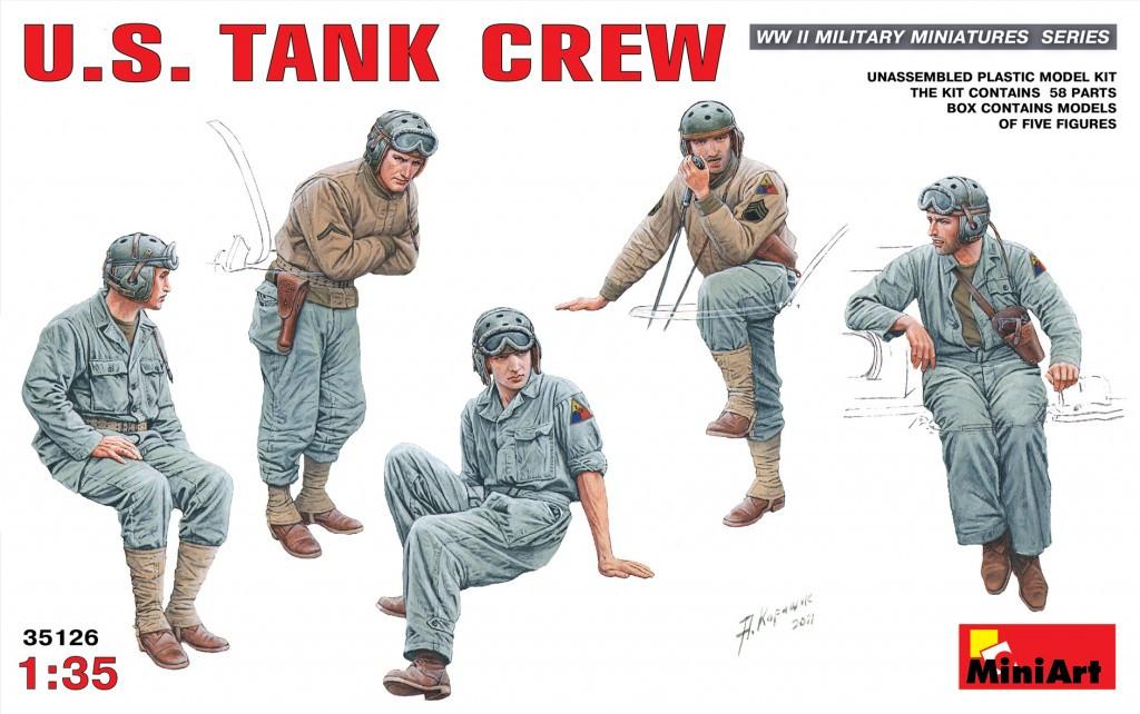 Набор для сборки фигур. Американский танковый экипаж. 1/35 MINIART 35126