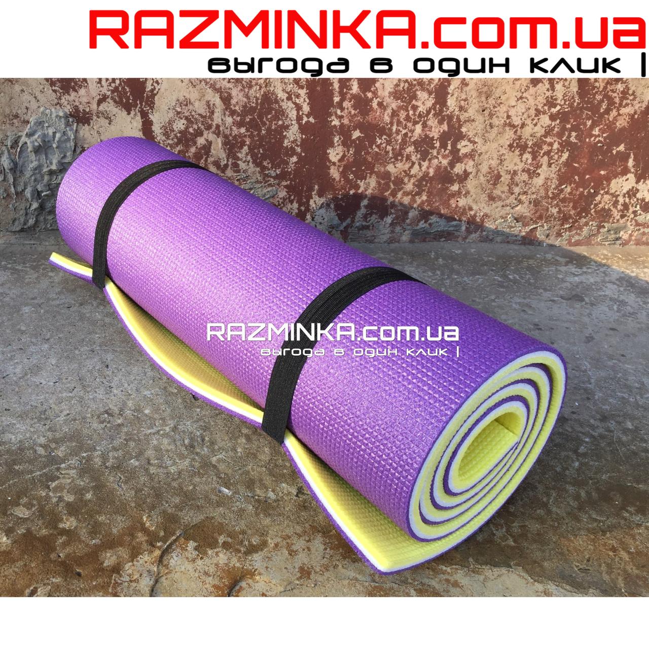 Каремат зимний 1800х600х12мм, желто-бело-фиолетовый
