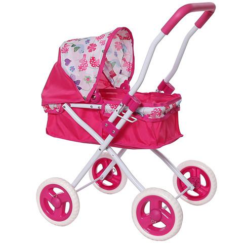 Коляска для кукол розовая арт. FL8155-1