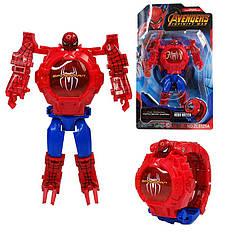 """Детские наручные часы игрушка трансформер """"Человек-паук (Spiderman)"""" в подарочной упаковке"""