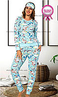 Женская пижама с единорогами с легким начесом